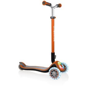 Globber Elite Prime Scooter with battery-free LED wheels flash Kids, kupfer